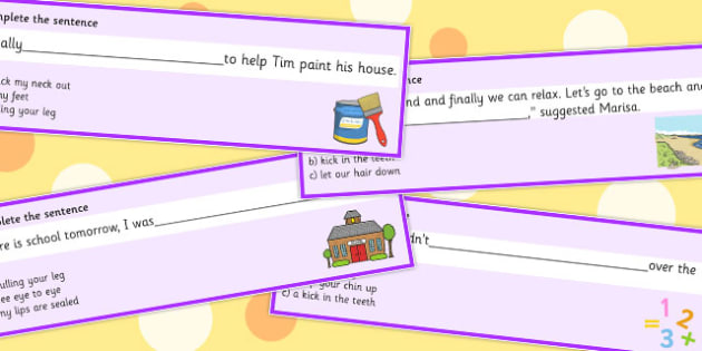 Complete The Sentence With An Idiom Multiple Choice Set 3 - idiom