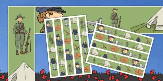 New Zealand Anzac Day Display Borders