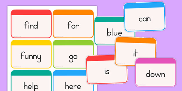 Dolch Word Flashcards Pre-Primer - dolch, english, word, flashcards, fluency, read, key, preprimary, reading, usa