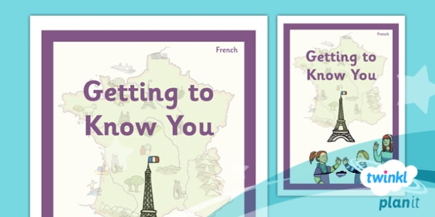 French: Getting to Know You Year 3 Unit Book Cover