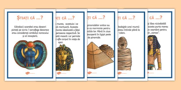 Egiptul Antic, știați că ...? - Planșe