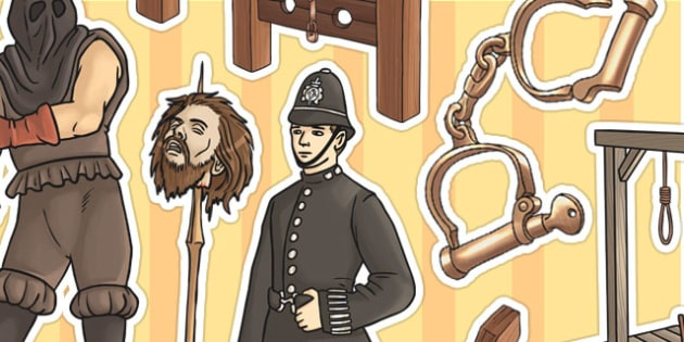 Crime and Punishment Display Cut Outs - cut out, history, display