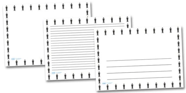 Churchill Landscape Page Borders- Landscape Page Borders - Page border, border, writing template, writing aid, writing frame, a4 border, template, templates, landscape