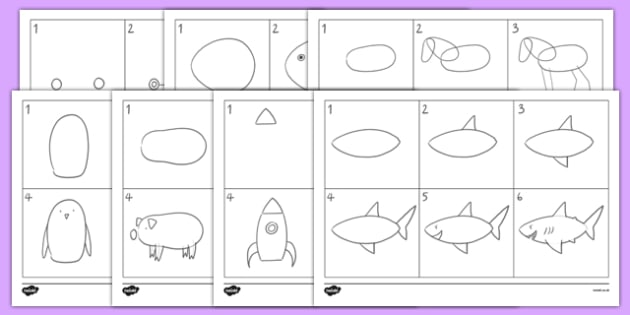 How to Draw Mixed Activity Sheet Pack, worksheet