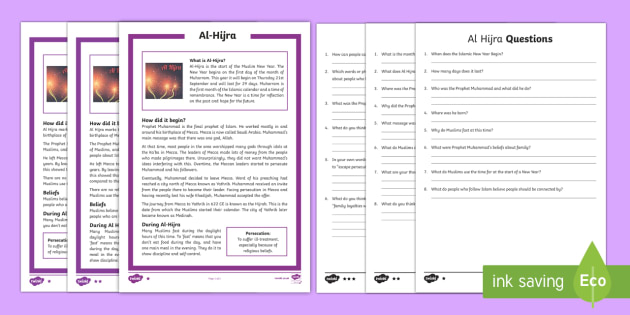 Al Hijra Differentiated Reading Comprehension Activity