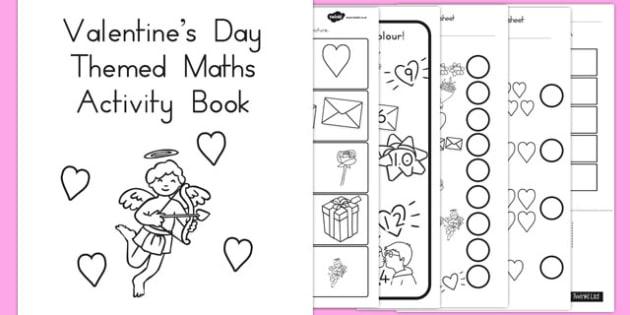 Valentines Day Themed Maths Activity Book - australia, activity