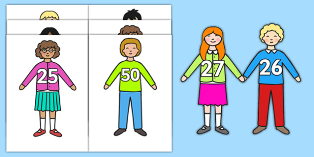 Numbers 1-50 on Children - numbers, 1-50, children, display