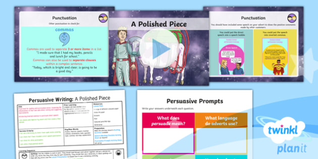 PlanIt Y3 Space: To Support Teaching on The King of Space Lesson Pack (5) - The King of Space, adverts, punctuation, speech marks, inverted commas,  space, Year 3, Y3, English,