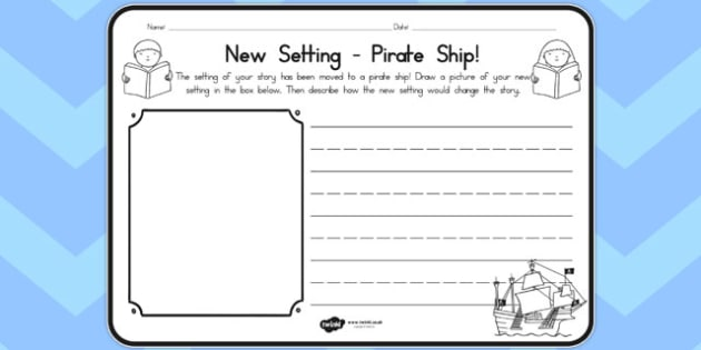 New Setting Pirate Ship Comprehension Worksheet - australia