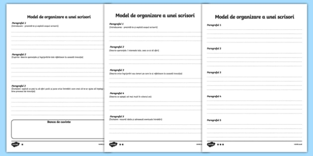 Model de organizare a unei scrisori, Pagină de scris