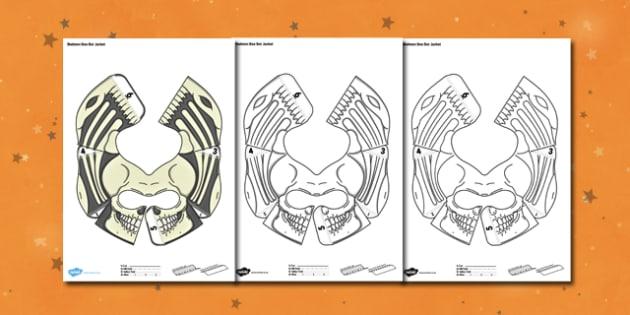 Halloween Skeleton Bee Bot Jacket - science, spooky, program, programming, robot, toy, cover, model, computing, it, ict, fun, interactive, change, add, topic,