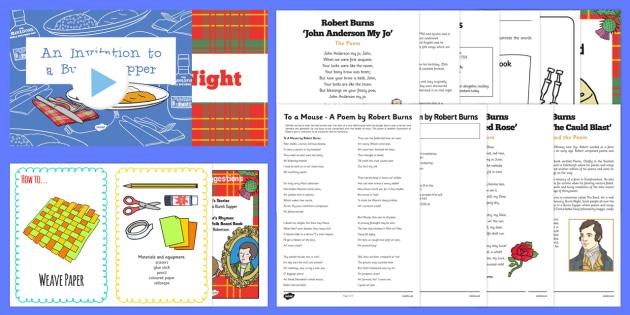 Top 10 Robert Burns - cfe, top ten, resources, robert burns, burns night, event