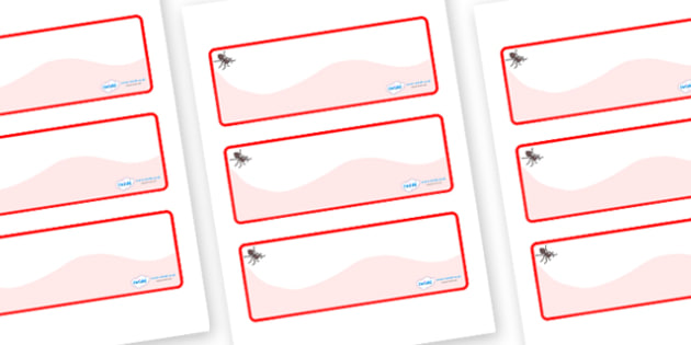 Ant Themed Editable Drawer-Peg-Name Labels (Colourful) - Themed Classroom Label Templates, Resource Labels, Name Labels, Editable Labels, Drawer Labels, Coat Peg Labels, Peg Label, KS1 Labels, Foundation Labels, Foundation Stage Labels, Teaching Labe