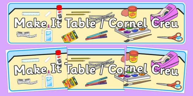 Bilingual Banner for Make It Table - welsh, cymraeg, Make it table, Display Banner, Foundation Phase
