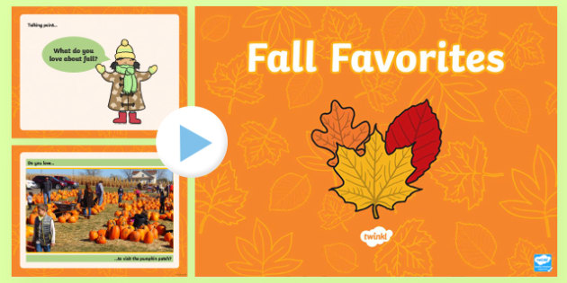 Fall Favorites PowerPoint