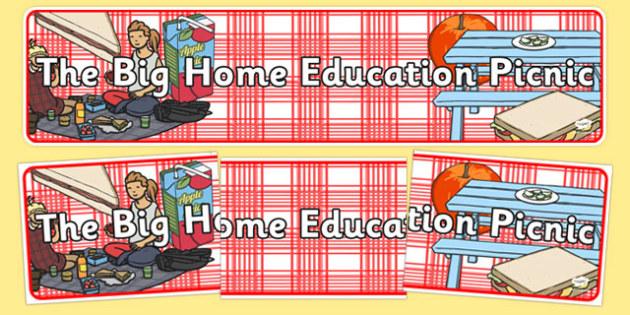 The Big Home Education Picnic Display Banner - the big home education picnic, event, home educators, display banner