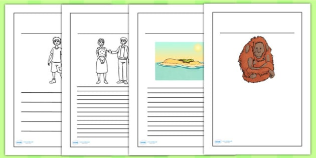 Kensuke's Kingdom Writing Frames - writing template, writing aid