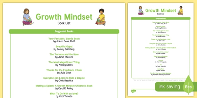 Growth Mindset Book List
