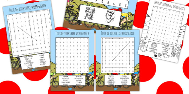 Tour De Yorkshire Themed Differentiated Wordsearch - yorkshire