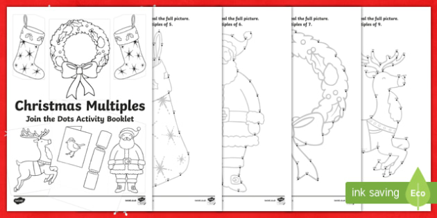 Christmas Multiples Activity Booklet-Irish