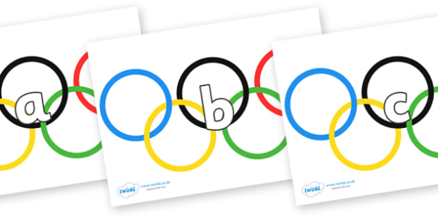 Phase 2 Phonemes on Olympic Rings - Phonemes, phoneme, Phase 2, Phase two, Foundation, Literacy, Letters and Sounds, DfES, display