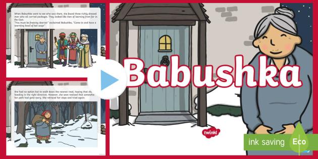 Babushka Story PowerPoint - Babushka, Russia, story, Christmas, Xmas, gifts, legend, myth, traditional, tale, Jesus, birth, wise