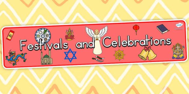 Australia Festivals and Cultural Celebrations Display Banner - festivals