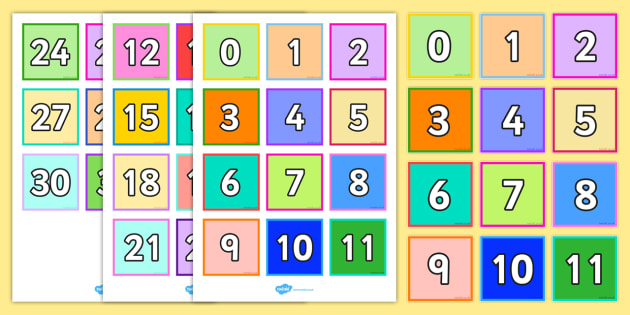 0-32 Number Tiles - number, tiles, 0-32, numbers, number tiles
