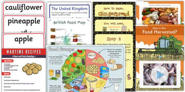 KS1 British Food Fortnight Resource Pack - british food fortnight, pack