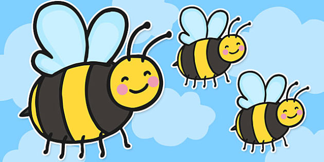 Editable Bee Cut Outs - editable, bee, cut outs, edit, cut-outs, cut, outs