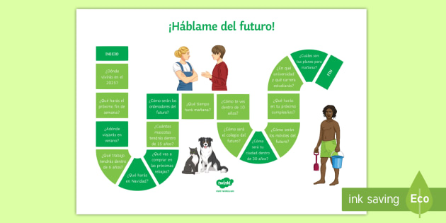 Tell Me About You Future Tense Board Game - Spanish - Spanish, Speaking, Practice, future, tense, board, game, questions, answers, revision,