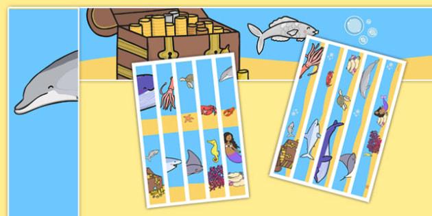 The Little Fish Display Borders - tiddler, early years, eyfs, nursery, reception, fish, under the sea, ocean, display, border,