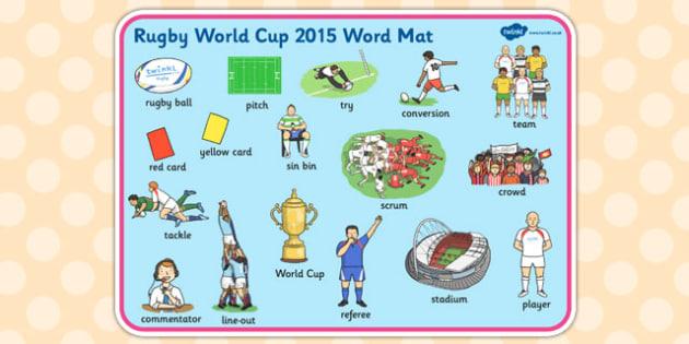 Rugby World Cup 2015 Word Mat - rugby world cup, 2015, word mat, word, mat