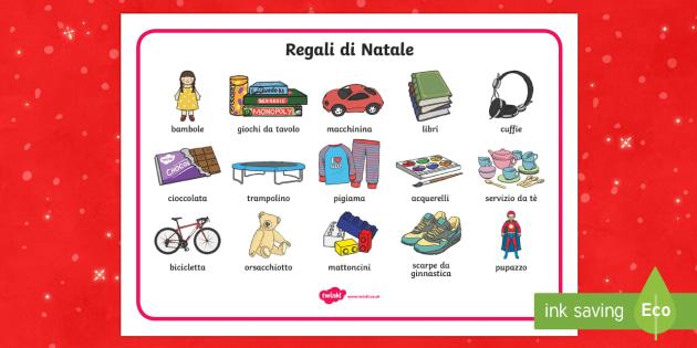 Regali di Natale vocabolario illustrato - Regali di Natale, natale, Scrittura indipendente, regali, natalizio, bambola, macchinina, regali nat