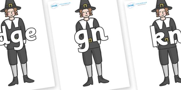 Silent Letters on Pilgrims - Silent Letters, silent letter, letter blend, consonant, consonants, digraph, trigraph, A-Z letters, literacy, alphabet, letters, alternative sounds