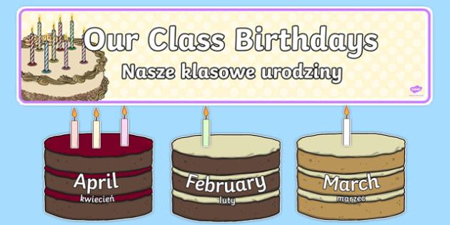 Editable Birthday Display Set Cakes Polish Translation - polish, editable, birthday, display, set, cakes