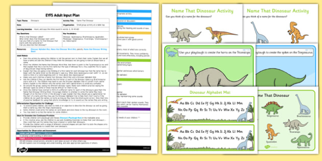 EYFS Name That Dinosaur Adult Input Plan and Resource Pack