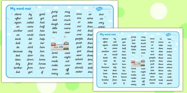 Transport Themed KS1 Word Mat - transport, ks1, word mat, mat