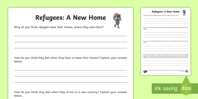 Refugees: A New Home Activity - refugees, new home, activity, syria