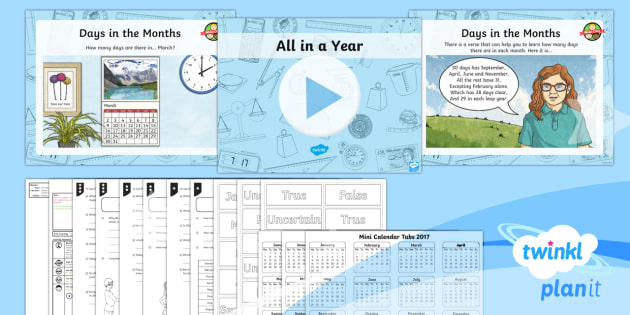 PlanIt Y3 Measurement Lesson Pack Time Units (2) - months, year, calendar, leap year, measurement, measures, Y3, KS2, time, vocabulary relating to date