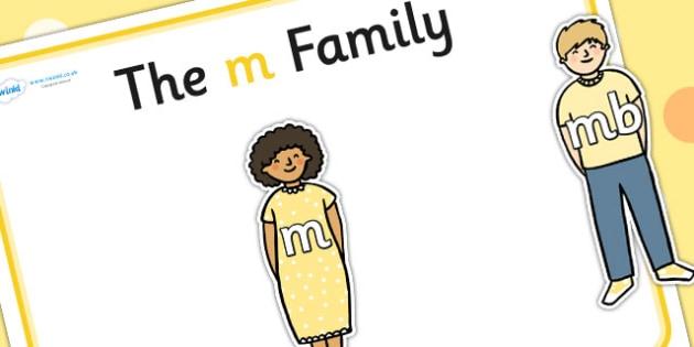 M Sound Family Cut Outs - sound families, sounds, cutouts, cut