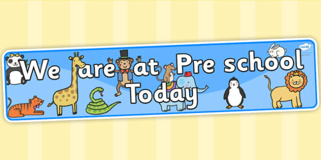 Self-Registration Banner Animals Pre School - self reg, header
