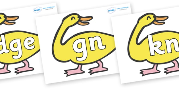 Silent Letters on Yellow Duck to Support Teaching on Brown Bear, Brown Bear - Silent Letters, silent letter, letter blend, consonant, consonants, digraph, trigraph, A-Z letters, literacy, alphabet, letters, alternative sounds