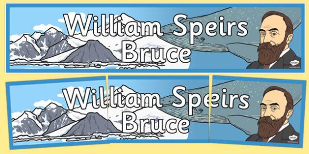 William Speirs Bruce Display Banner - william speirs bruce, display banner, display, banner