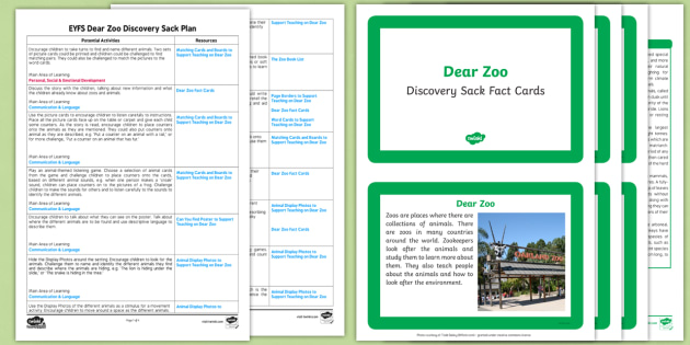 Discovery Sack to Support Teaching on Dear Zoo - dear zoo, discovery sack, discovery