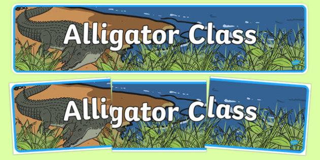 Alligator Class Display Banner - alligator class, display banner, display, banner, alligator, class