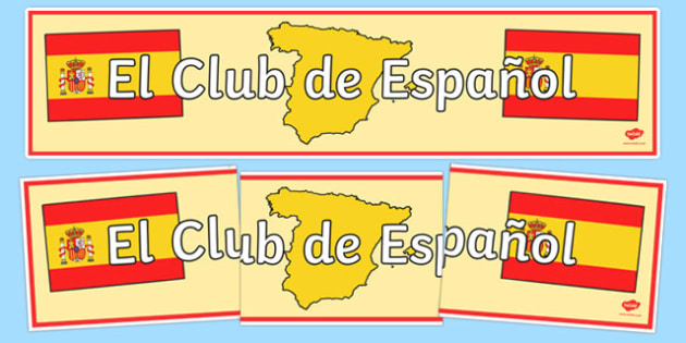 Spanish Club Display Banner