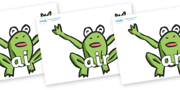 Phase 3 Phonemes on Frogs - Phonemes, phoneme, Phase 3, Phase three, Foundation, Literacy, Letters and Sounds, DfES, display