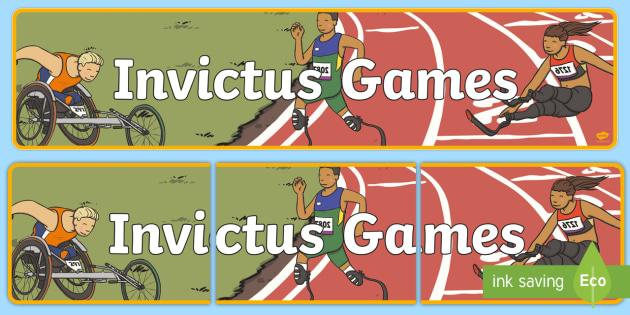 Invictus Games Display Banner - sport, games, display, header