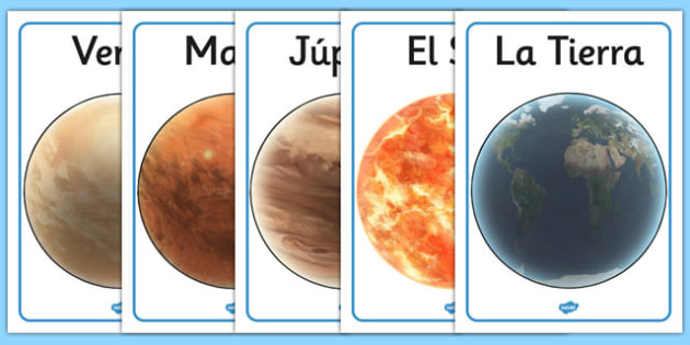 Pósters de exposición - Nuestro sistema solar - planetas, espacio, nombres